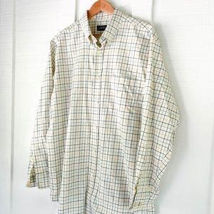 ORVIS Button Down Oxford Dress Shirt Size L